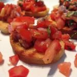Bruschetta Selber Machen – Bruschetta mit gehackten Tomaten & Basilikum